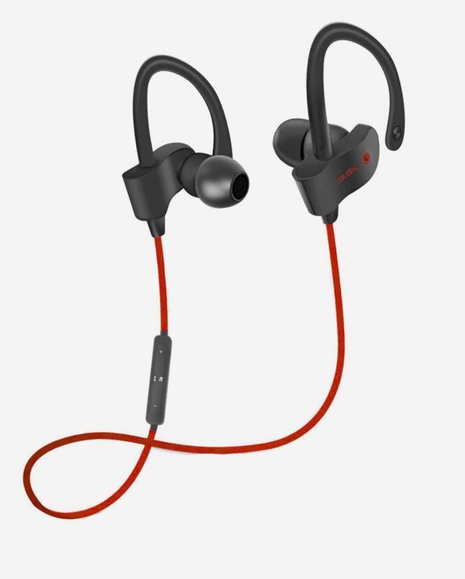 5b6000eab3d WILES wireless headphone for all android and ios devices Bluetooth Headset  with Mic (Red, In the Ear)