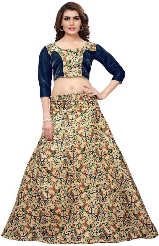 b34cdc9eea7 Saree Collection Printed Semi Stitched Lehenga Choli - Buy Saree ...