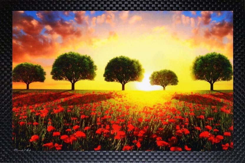 Janki Flowers Scenery Nature Wall Painting Photo Frame Digital