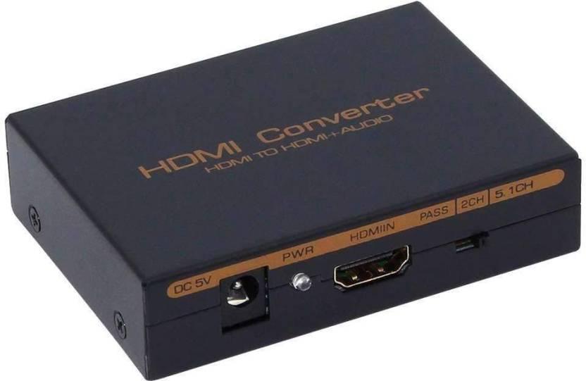 Tobo HDMI to HDMI Audio Optical SPDIF + RCA L/R Extractor Converter