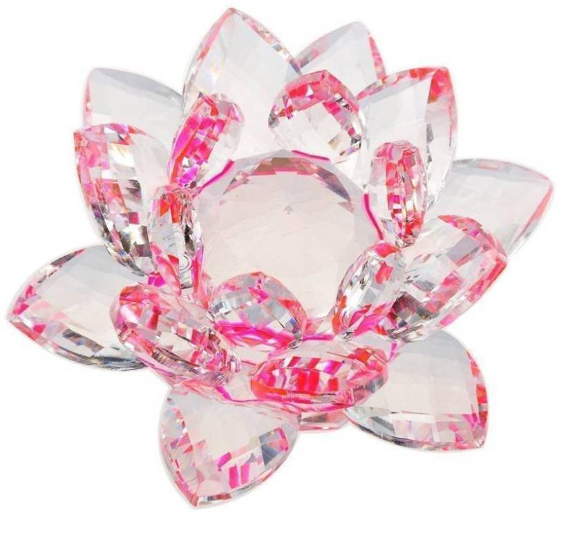 Manshul Collection Crystal Lotus Flower Peace Wealth And