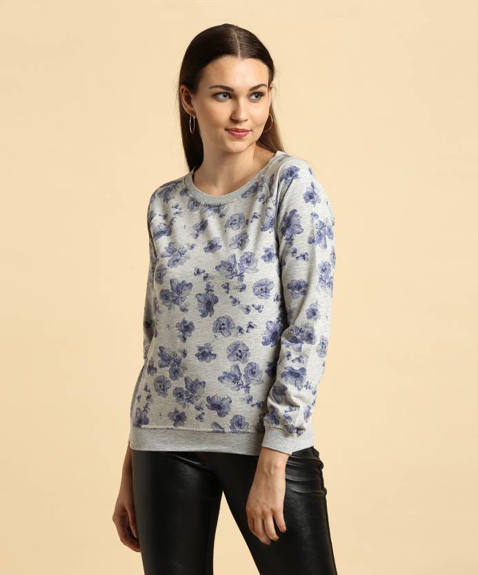 Allen Solly Full Sleeve Printed Women s Sweatshirt - Buy grey Allen Solly  Full Sleeve Printed Women s Sweatshirt Online at Best Prices in India  e27c6af34b3e