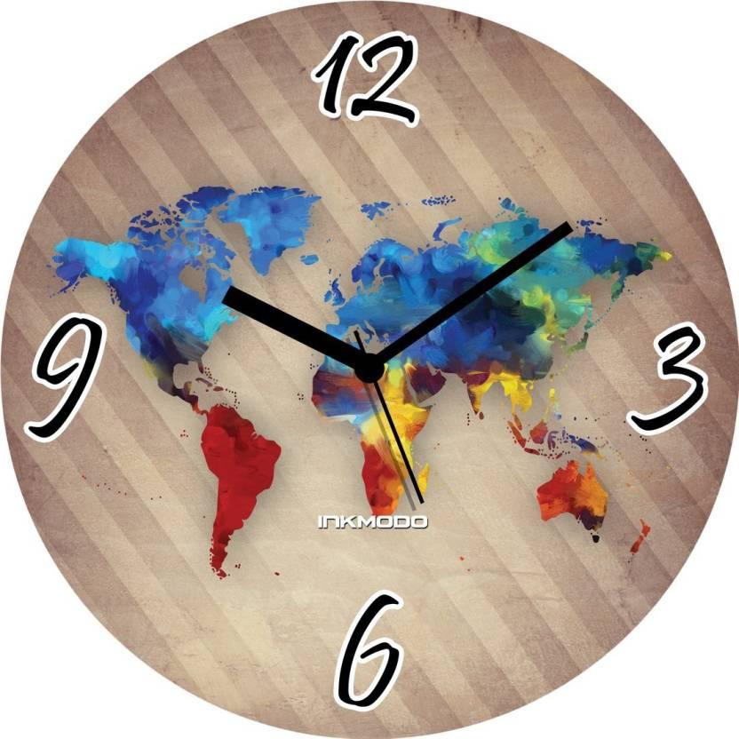 9e53f3dece8 INKMODO Analog Wall Clock Price in India - Buy INKMODO Analog Wall ...