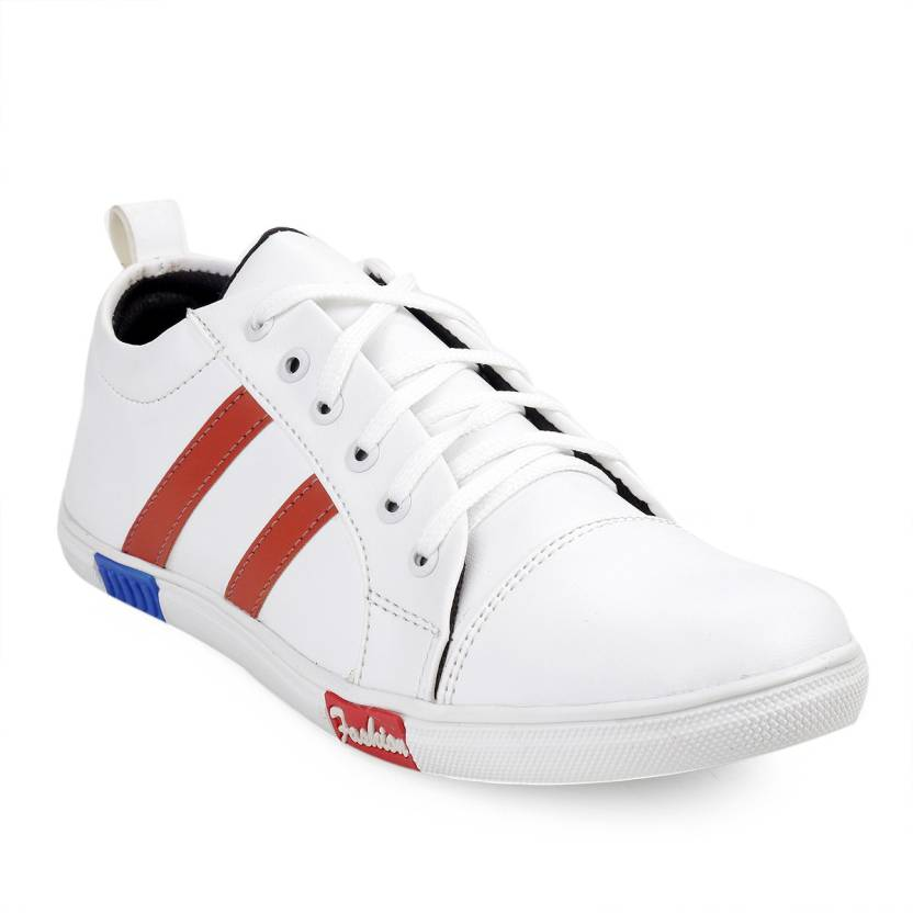 DUMPPY Sneakers For Men White Colour White Outer Material
