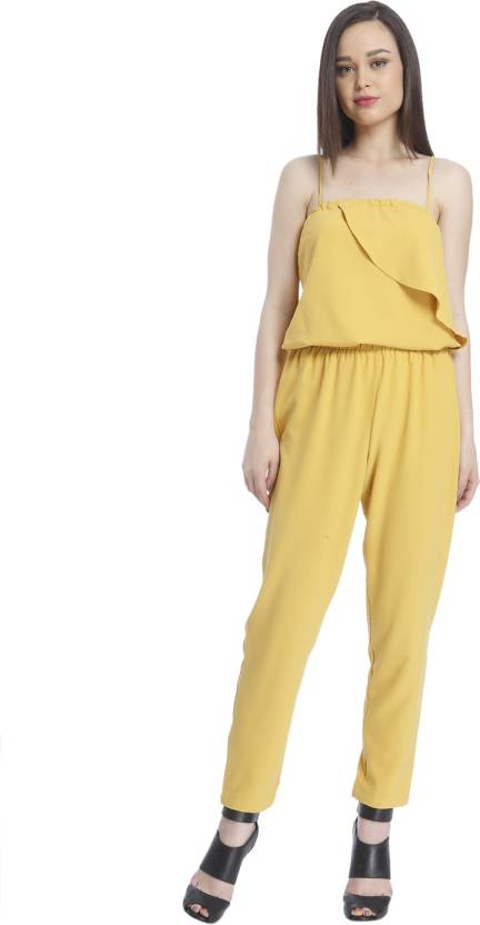 69e267547e Only Solid Women Jumpsuit - Buy Yellow Only Solid Women Jumpsuit Online at  Best Prices in India