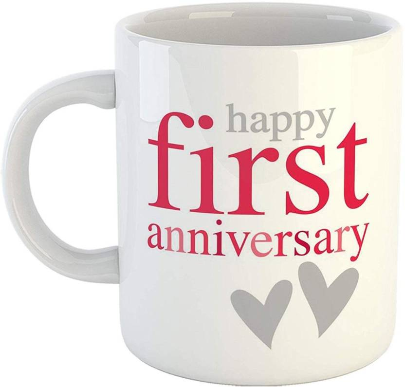 Ikraft Anniversary Quotes Happy First Anniversary Printed Coffeemug
