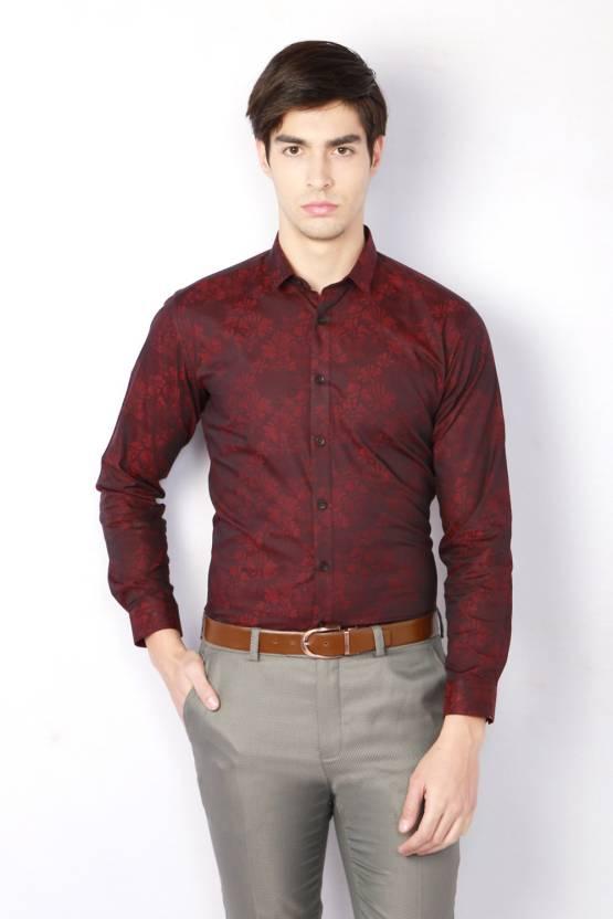 6bbac73d297 V Dot by Van Heusen Men s Floral Print Casual Brown Shirt - Buy Red V Dot  by Van Heusen Men s Floral Print Casual Brown Shirt Online at Best Prices  in India ...