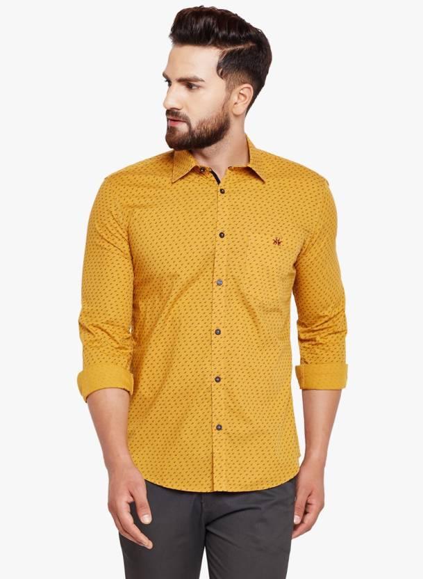 2589b299 Crimsoune Club Men Printed Casual Yellow Shirt - Buy Crimsoune Club Men  Printed Casual Yellow Shirt Online at Best Prices in India | Flipkart.com