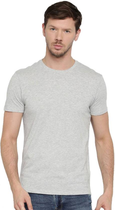 5b70387266a Bewakoof Store Solid Men s Round Neck Grey T-Shirt - Buy Bewakoof Store  Solid Men s Round Neck Grey T-Shirt Online at Best Prices in India