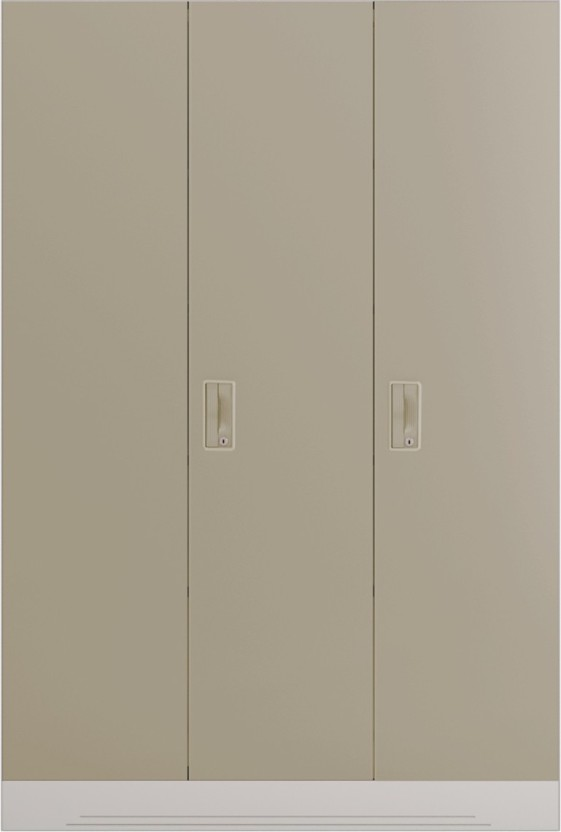 superior Steel Almirah Price Part - 18: Godrej Interio Slimline 3 Door With Locker and Drawer Metal Almirah