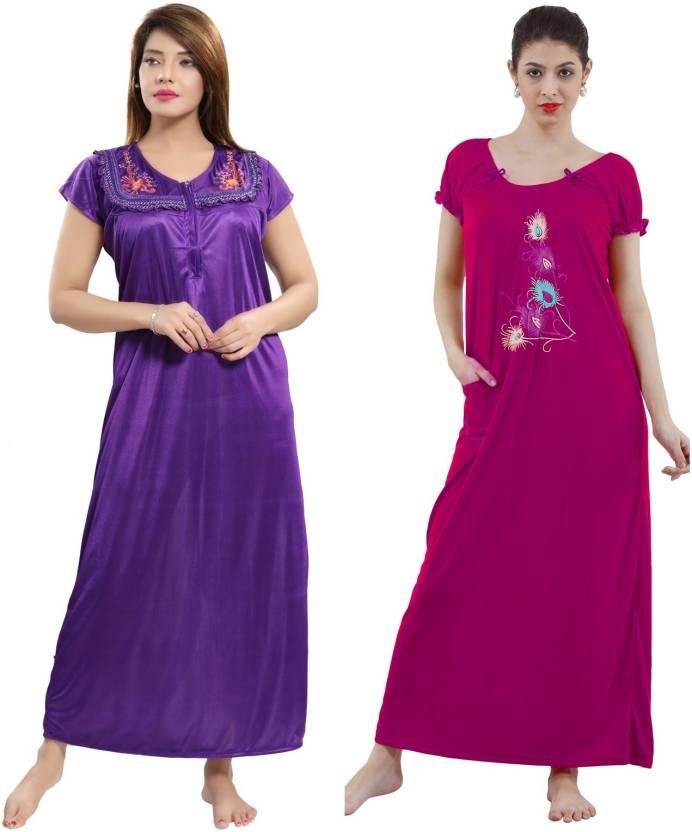 Romaisa Women s Nighty - Buy Romaisa Women s Nighty Online at Best ... 8dd389fdb