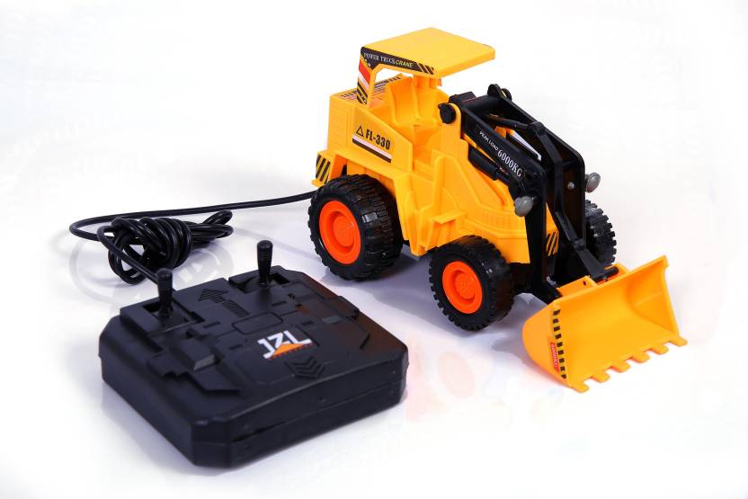 Tiny S World Wired Remote Control Battery Operated Jcb Crane Truck