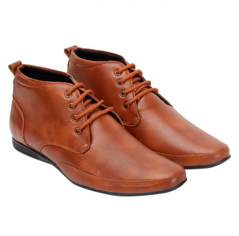 Style Height High Ankle Office Shoes Derby For Men Buy Tan Color
