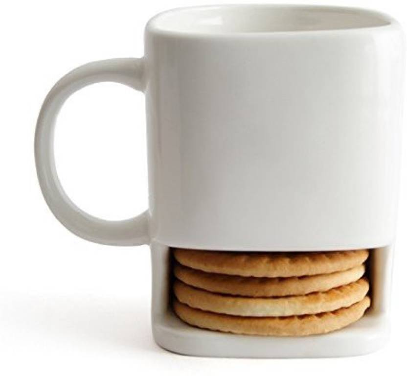 Krauss Ceramic For Coffee Tea With Cookie Biscuit Holder