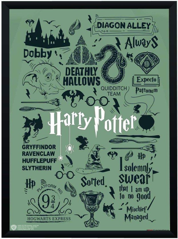 picture relating to Printable Harry Potter Quotes titled WB Formal Accredited Harry Potter Rates and Artwork Typography
