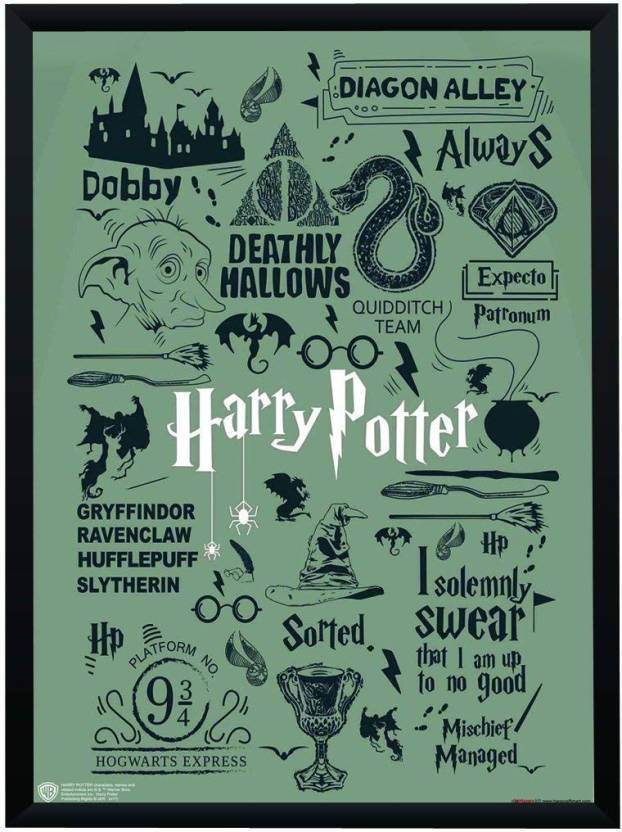 Wb Official Licensed Harry Potter Quotes And Art Typography Poster