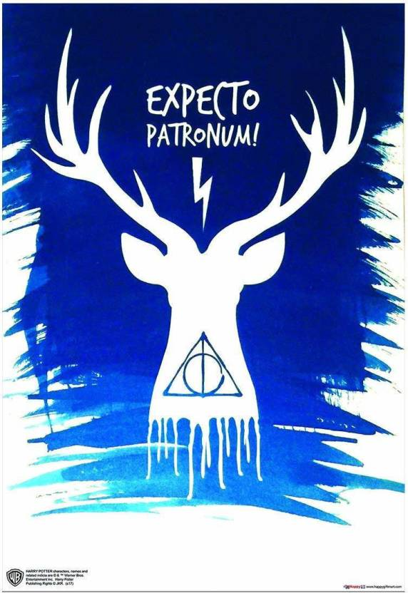 Wb Official Licensed Harry Potter Expecto Patronumly Hallows Art Poster A4 Paper Print 11 7 Inch X 8 3 Inch Rolled