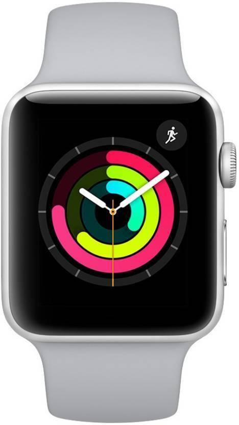 96059b10d27 Apple Watch Series 3 GPS - 38 mm Silver Aluminium Case with Fog Sport Band  (White Strap Regular)