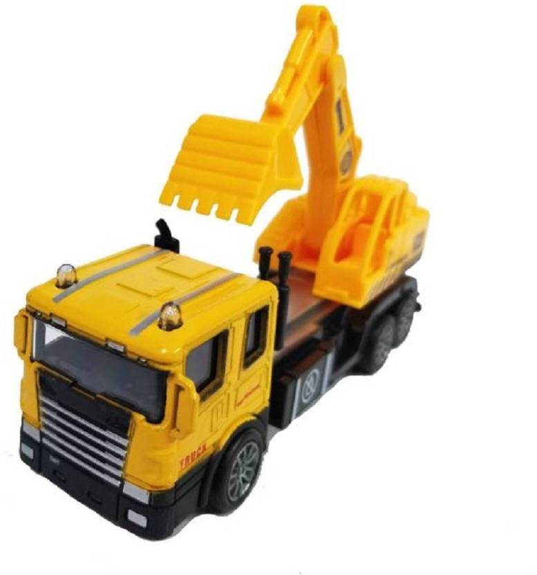 Miss & Chief Battery Operated Excavator Pull Back Vehicle