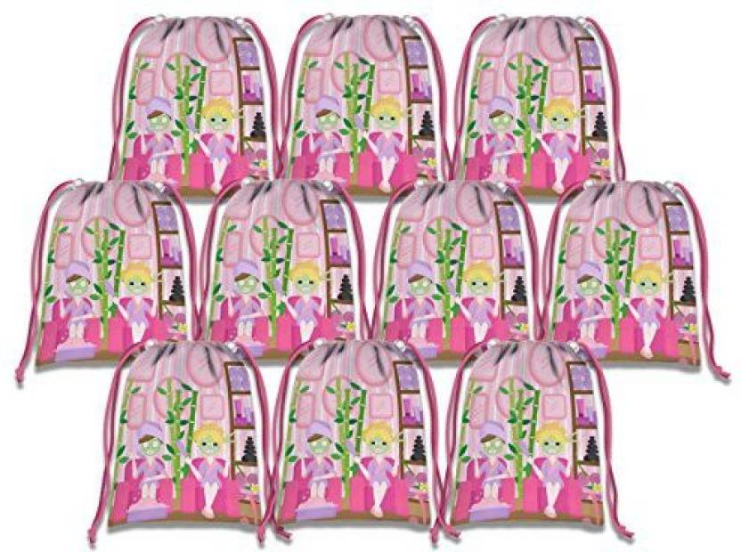 Birthday Galore Spa Salon Drawstring Bags Kids Party Supplies Favor 10 Pack