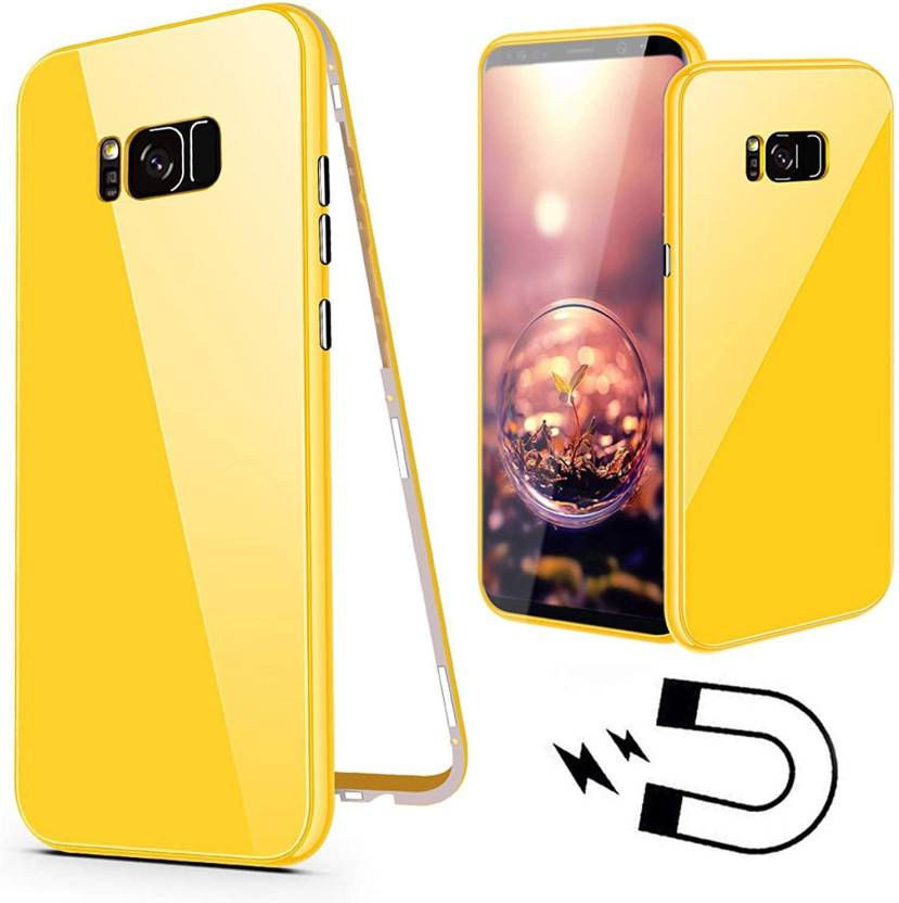separation shoes 626ec 5916b Midkart Back Cover for Samsung S8 Yellow Magnetic Metal Frame with ...