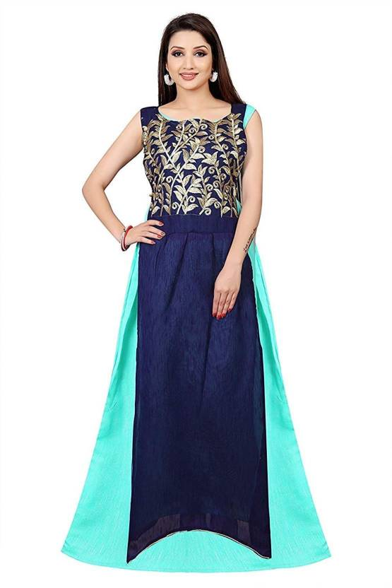 dea251879c4a Sitaram Group Women s Gown Light Blue Dress - Buy Sitaram Group Women s Gown  Light Blue Dress Online at Best Prices in India
