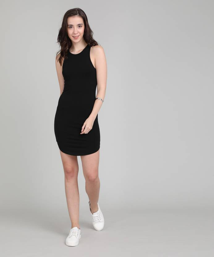 edd10ced13b Forever 21 Women s Bodycon Black Dress - Buy BLACK Forever 21 Women s  Bodycon Black Dress Online at Best Prices in India