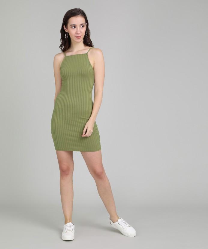 Forever 21 Women's Bodycon Green Dress -