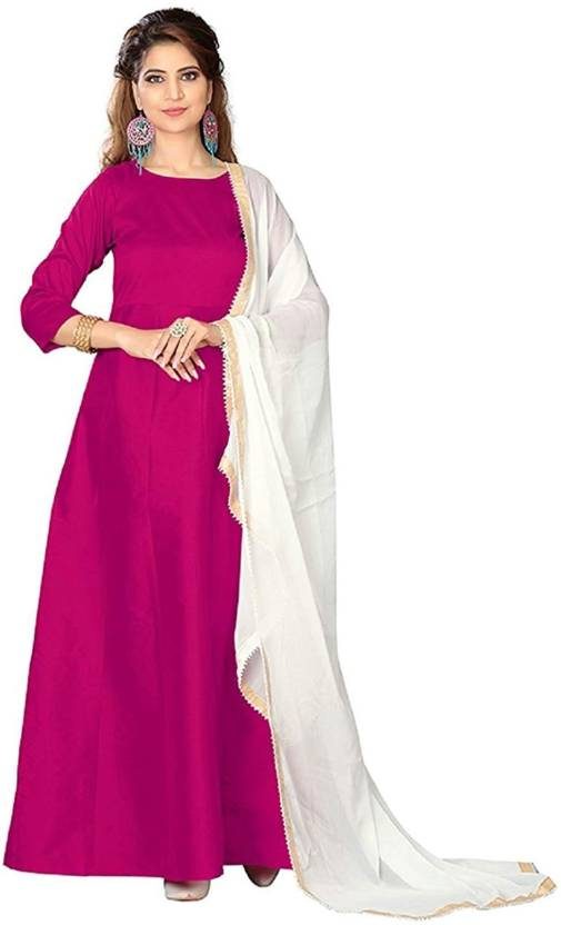 8e37731170df6 Ekva Fashion Silk Solid Semi-stitched Gown & Salwar Material Price in India  - Buy Ekva Fashion Silk Solid Semi-stitched Gown & Salwar Material online  at ...