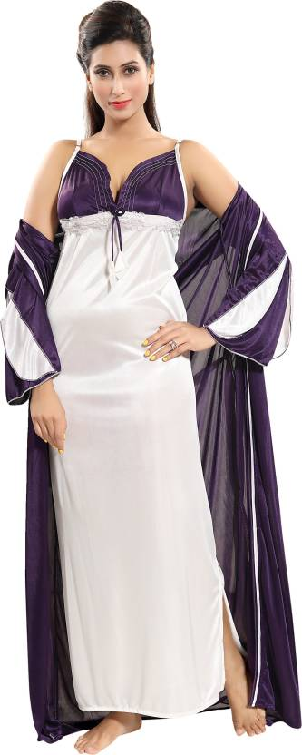 993e373e9c Fashigo Women s Nighty with Robe - Buy Fashigo Women s Nighty with ...