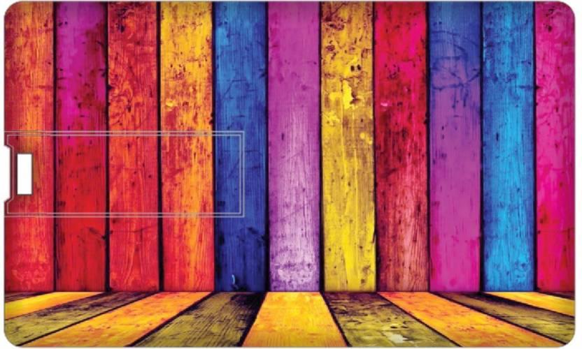 Printland 8 GB Credit Card Shape Pen Drive | PL8 GB CCPD2020 8  GB Pen Drive Multicolor