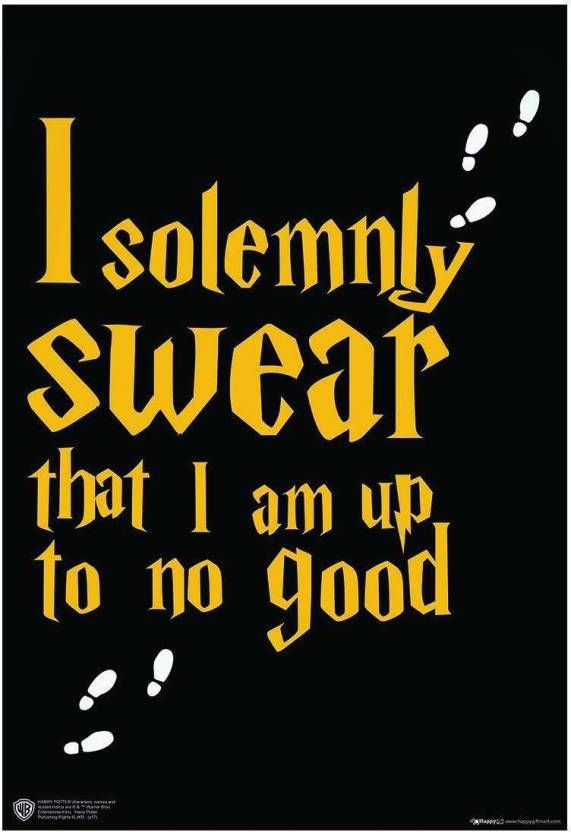 Wb Official Licensed Harry Potter I Solemnly Swear That I Am Up To