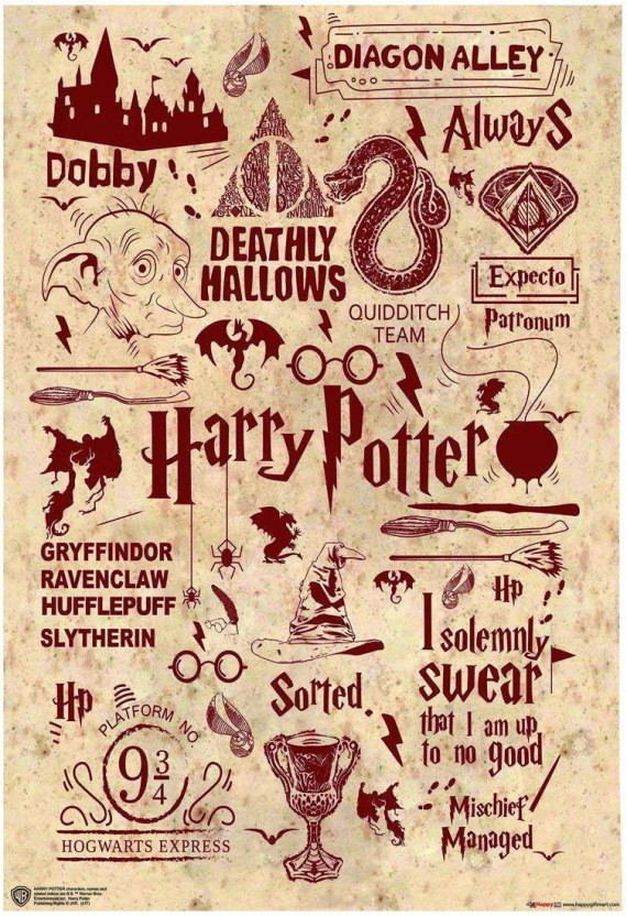 picture about Printable Harry Potter Quotes identified as WB Formal Certified Harry Potter Prices Artwork Typography