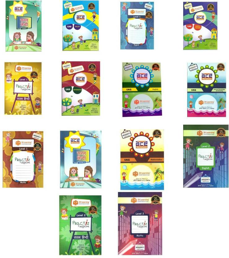 Lkg Ukg Kids 1120 Pages 14 Books Bundle Ace Early Learning