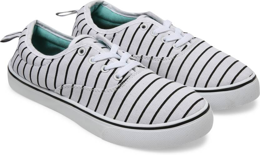on sale 5f9fc e98cc Forever Glam by Pantaloons Canvas Shoes For Women (White)