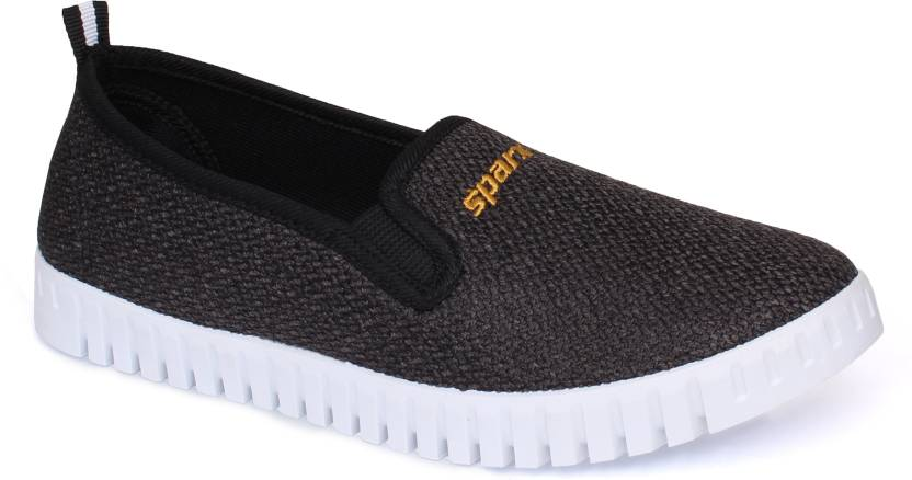166897e96d69 Sparx Women SL-114 Black White Slip On Sneakers For Women (Black, White)