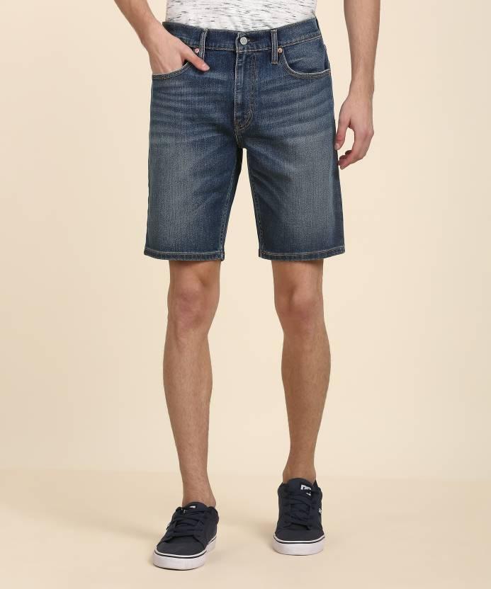 af6ceb13c57eb7 Levi's Solid Men Blue Denim Shorts - Buy Levi's Solid Men Blue Denim Shorts  Online at Best Prices in India   Flipkart.com