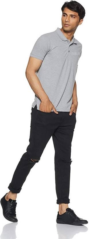 458971c24 PRO CLUB Solid Men Polo Neck Grey T-Shirt - Buy PRO CLUB Solid Men ...