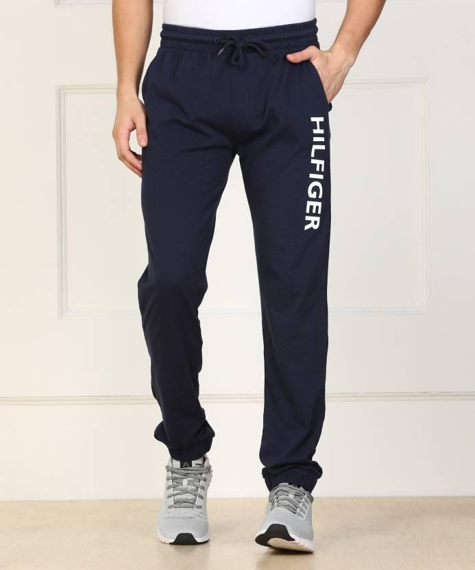 pretty nice latest design 2018 shoes Tommy Hilfiger Printed Men Blue Track Pants