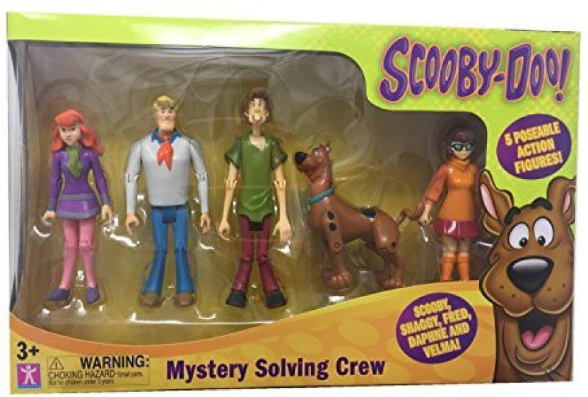 Scooby Doo ScoobyDoo Mystery Mates Figure 5 Pack Solving Crew Multicolor