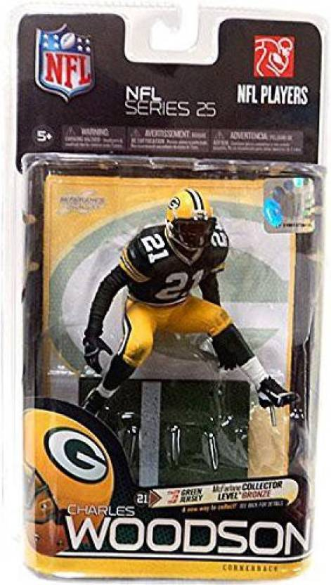 Mcfarlane Toys NFL Sports Picks Series 25 Action Figure Charles Woodson (Green  Bay Packers) Green Jersey Bronze Collector Level Chase (Multicolor) 9d24463e1