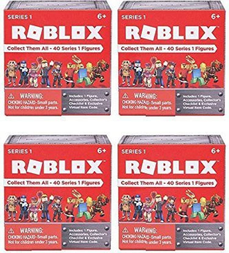 Jazwares Roblox Series 1 Action Figure Mystery Box Set Of 4 Boxes