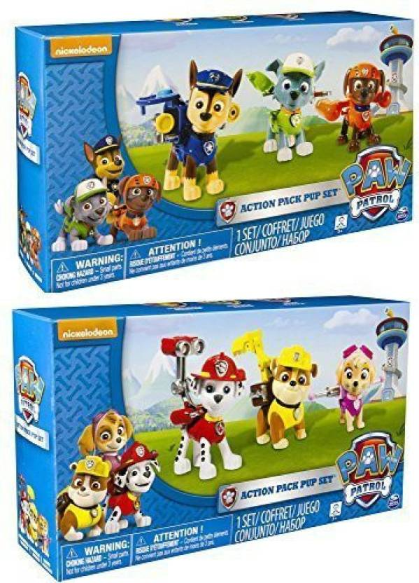 Paw Patrol Nickelodeon, - Action Pack Pups TWO 3pk Figure Sets