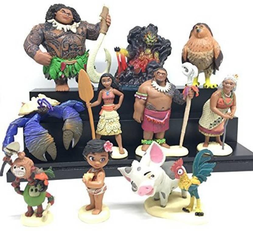 Un Branded gg Movie Moana Maui Waialik Heihei pig Pua Action Figure