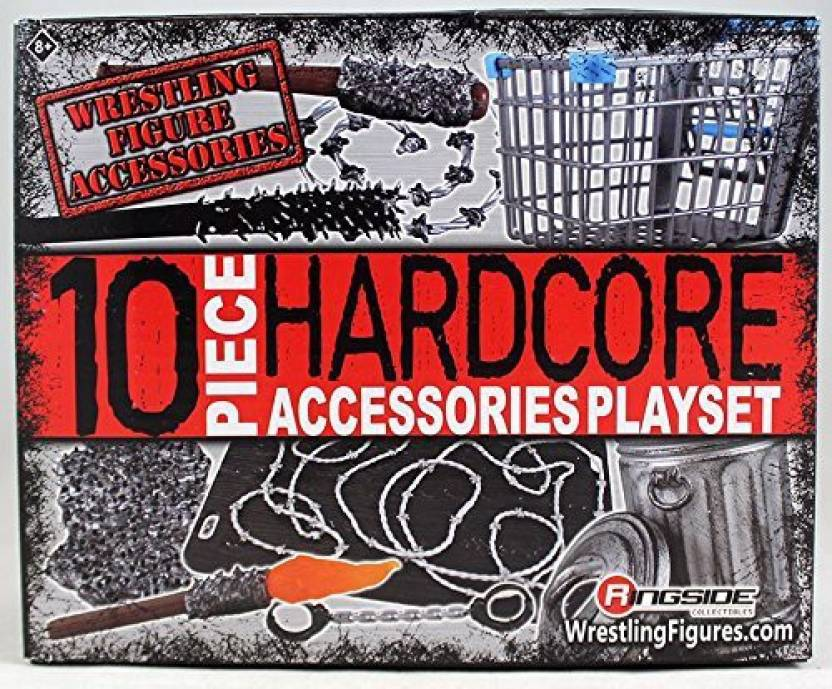 Ringside 10-Piece Hardcore Accessories Playset Collectibles
