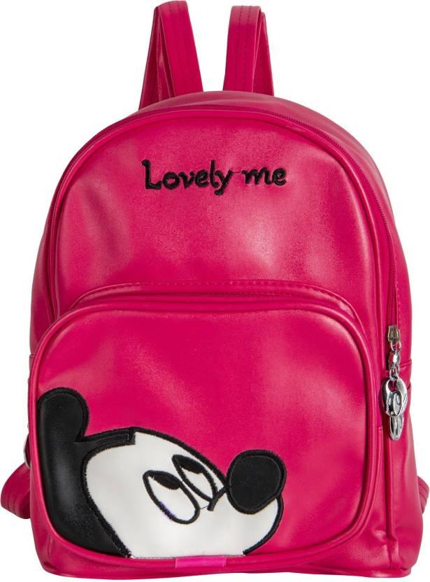 5cbfe582954 Shopigator Mickey Mouse Small Size Handbag Cum 5.5 L Backpack Pink ...