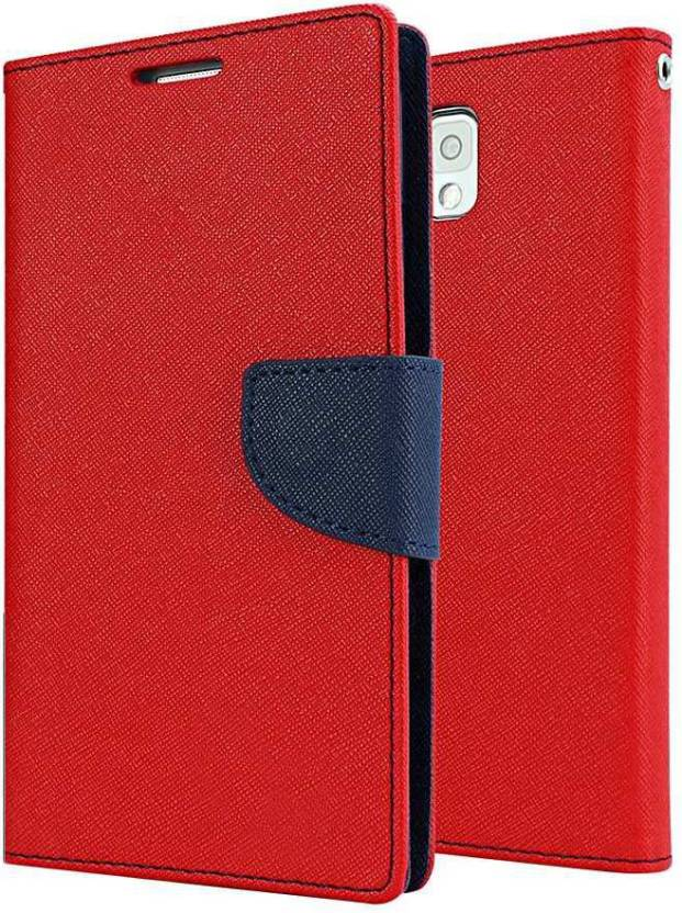Coverage Flip Cover for Asus Zenfone 2 Selfie 5.5 Red