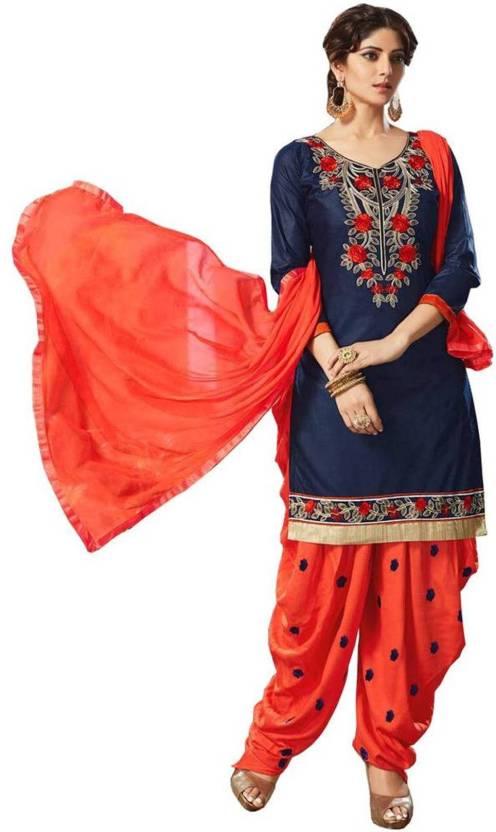0b21cecf0f Nirjas Designer Cotton Embroidered Salwar Suit Dupatta Material (Un-stitched )