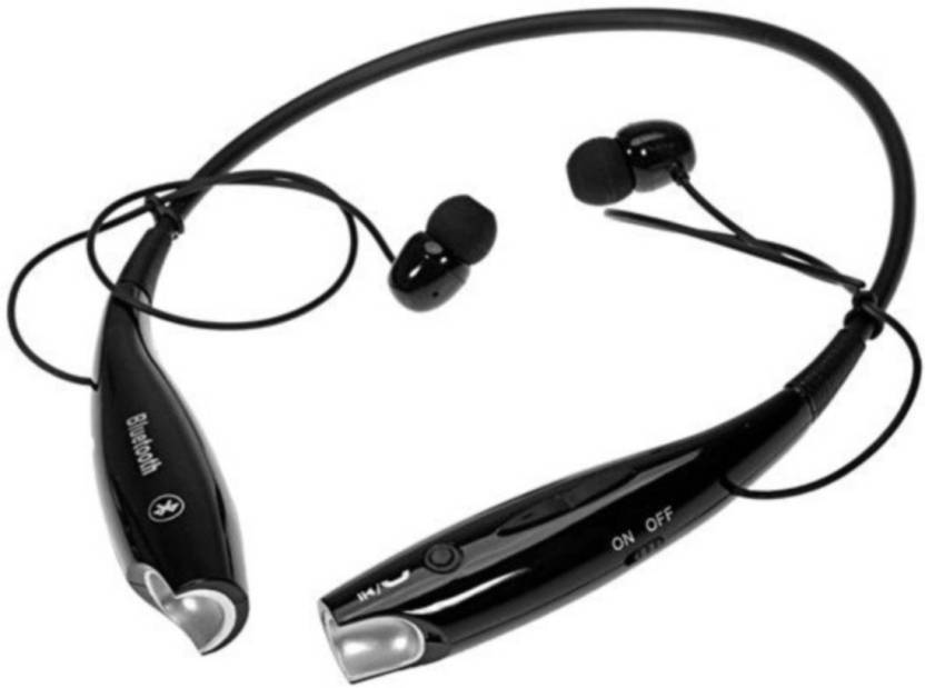 3beae02b4ea Piqancy HBS-730 S Bluetooth Stereo Headset Wireless Mobile Phone Headphone  With Call Bluetooth Headset with Mic (Black, In the Ear)