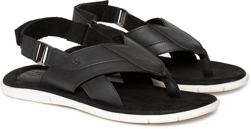 a23dfb90a17 Arrow Men Black Sandals - Buy Arrow Men Black Sandals Online at Best ...